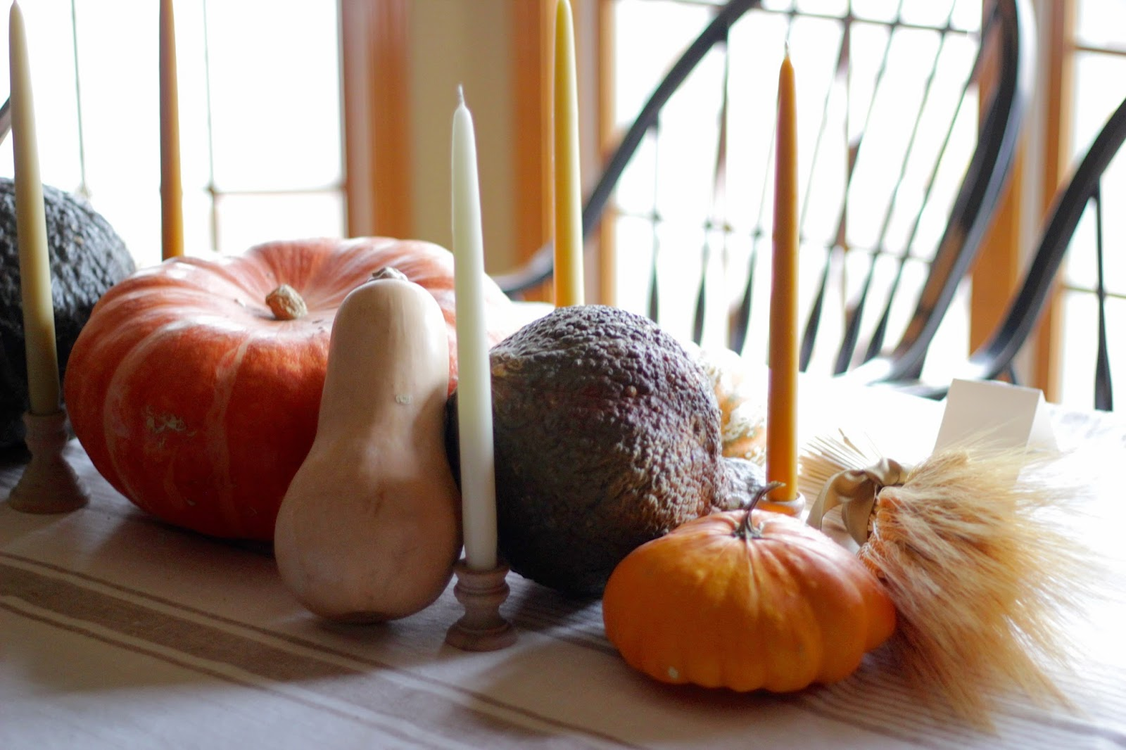 This is the table I set many years that was inspired another table I set this year below - bountiful \u0026 colorful featuring my \ We Are Thankful For\  ... & Jenny Steffens Hobick: Pumpkins \u0026 Gourds Harvest Table Setting for ...