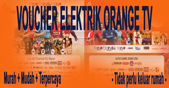 Voucher TV Prabayar Orange TV Murah