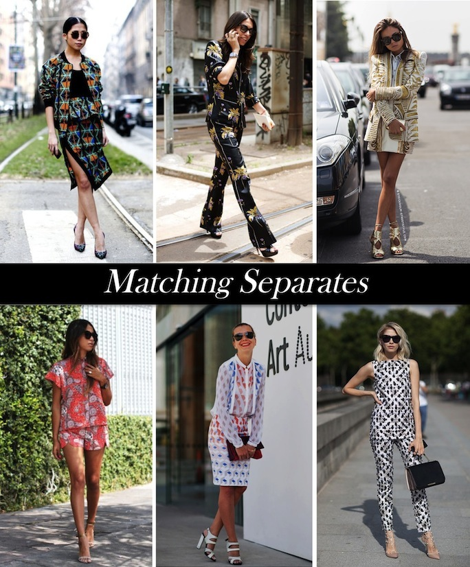 matching separates street style