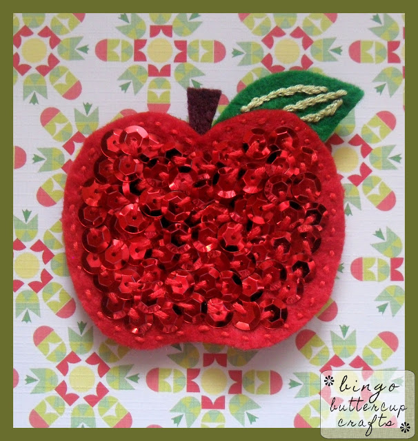 Sweet Apple Brooch by Bingo Buttercup Crafts