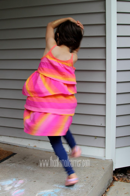FabKids Tiered Stripe Dress review