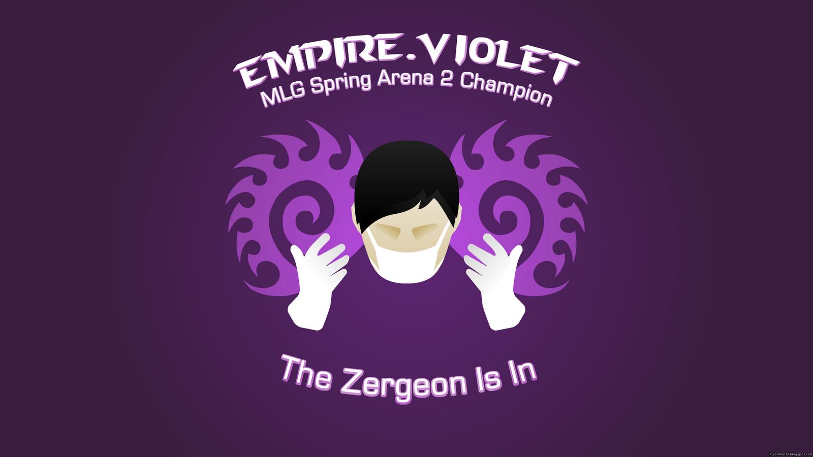 Empire Violet Wins MLG Spring Arena 2 Celebratory Wallpaper