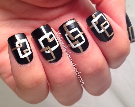 Inspired by Perfume Week Chanel Coco Noir Nail Art
