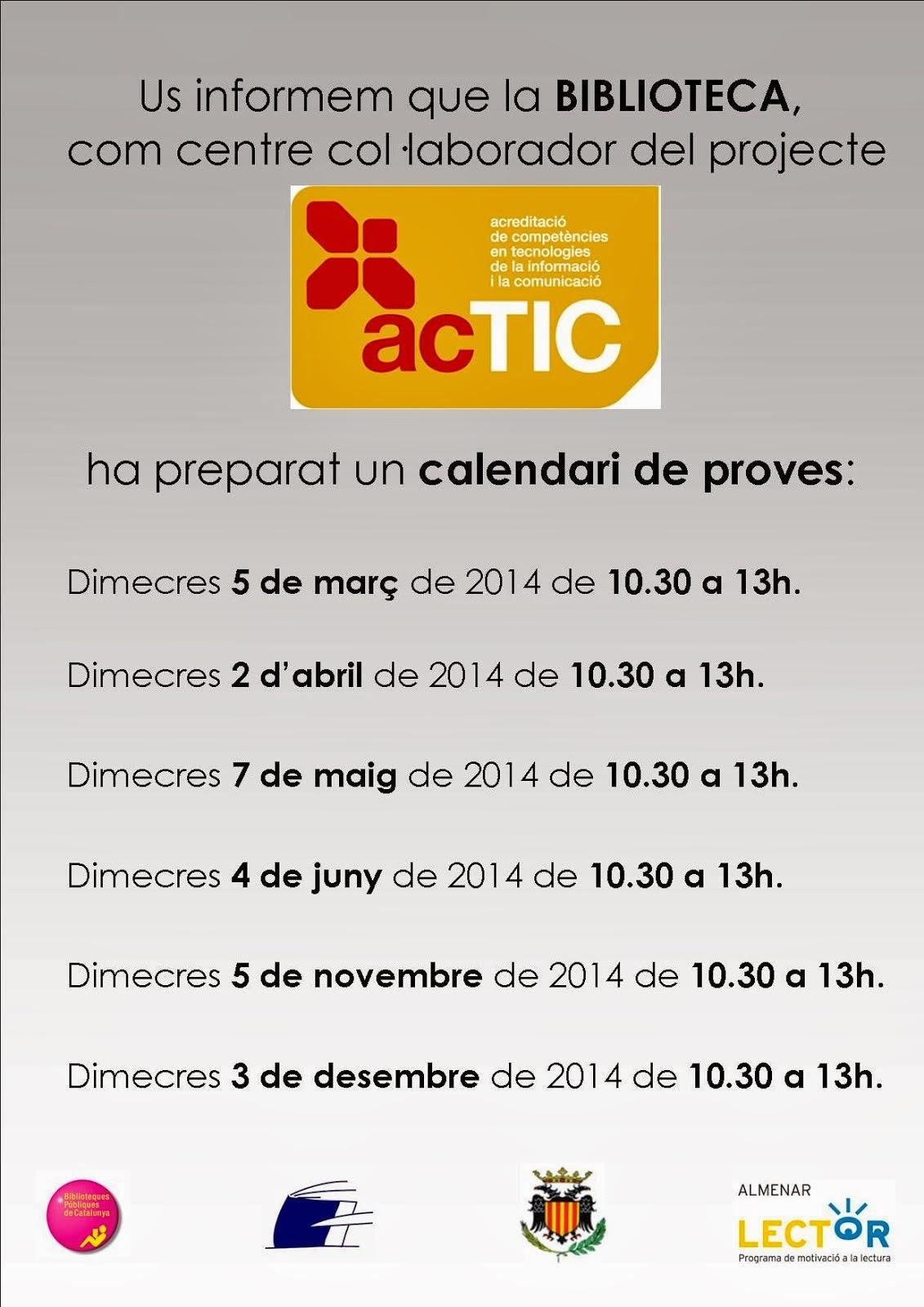 Calendari ACTIC