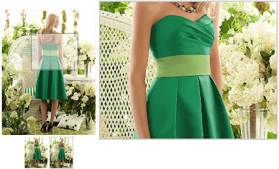 After Six Bridesmaid Style 6553 in Green
