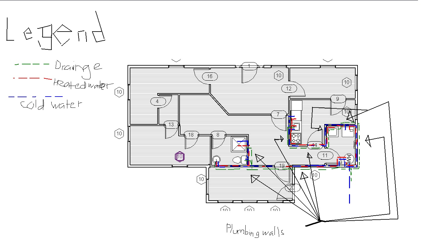 Plumbing plans for a house | House plans