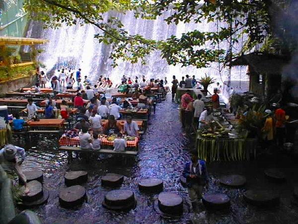 My World Waterfall Restaurant Villa Escudero Labasin