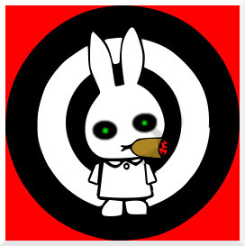 White Rabbit with cigar