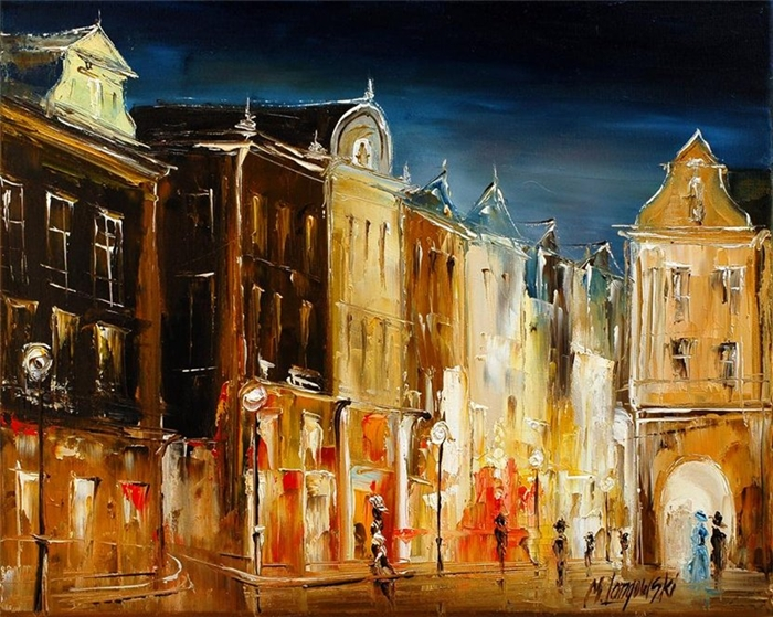 Marek Langowski | Polish Impressionist Landscapes painter | Venice by nightMarek Langowski | Polish Impressionist Landscapes painter | Venice by night
