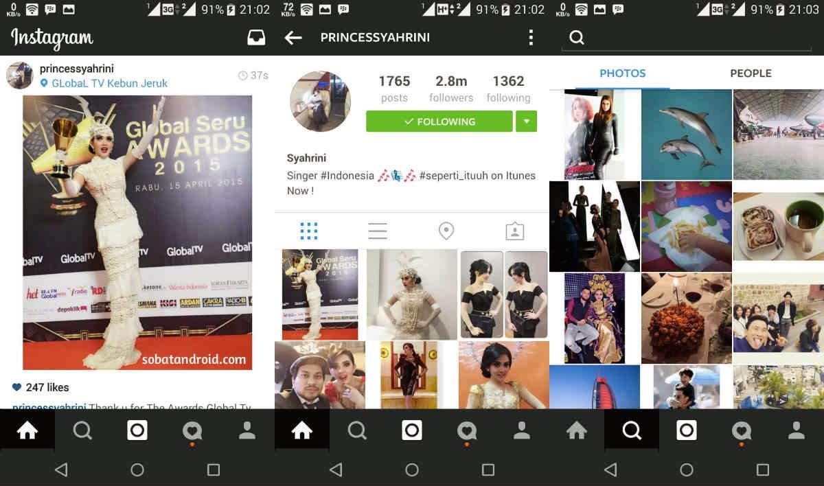 Cara Merubah Tampilan Aplikasi Instagram Android Menjadi Hitam Pekat