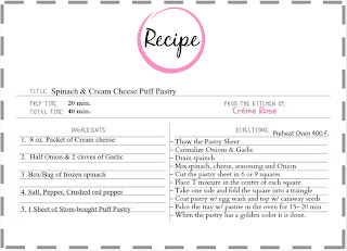 recipe card: puff pastry