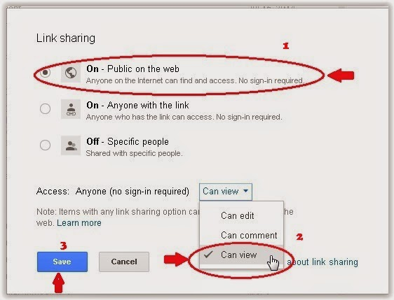 Cara Share File Secara Public di Google Drive