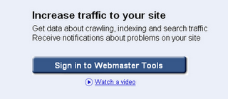 Sign in google webmaster tool