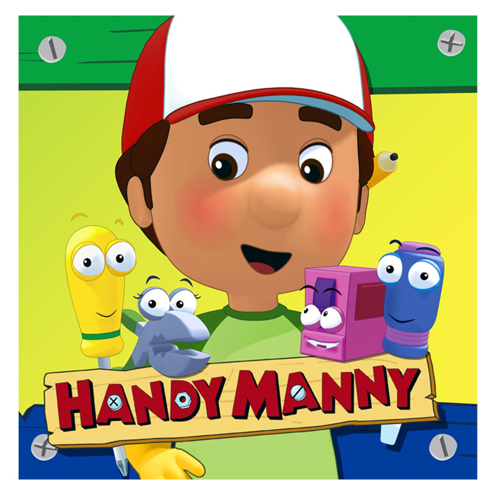 It is a graphic of Insane Handy Manny Images
