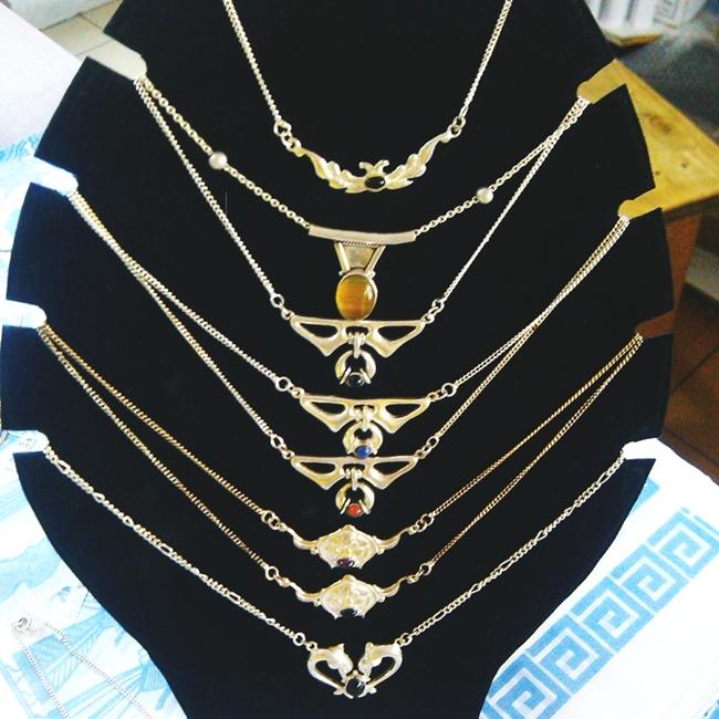 Instagram @lelazivanovic #glamfabweek.Beautiful silver necklaces made in Greece.Prelepe srebrne ogrlice iz Grcke.