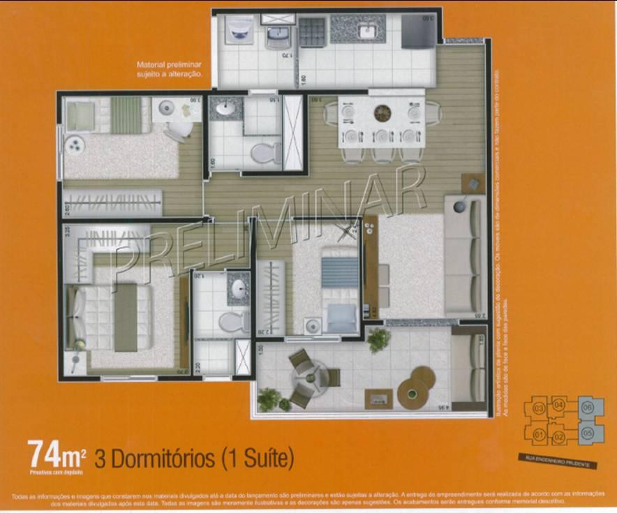 apto 3 dormitórios aclimação