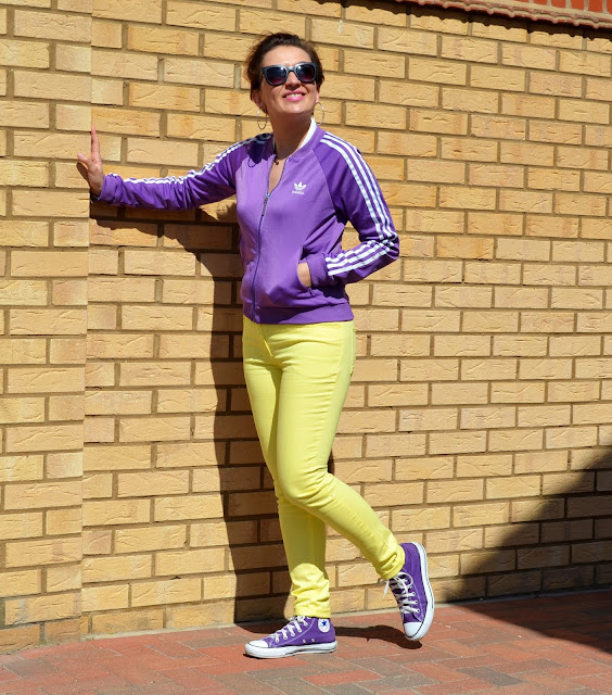 Famous 3 stripes in colour ADIDAS!