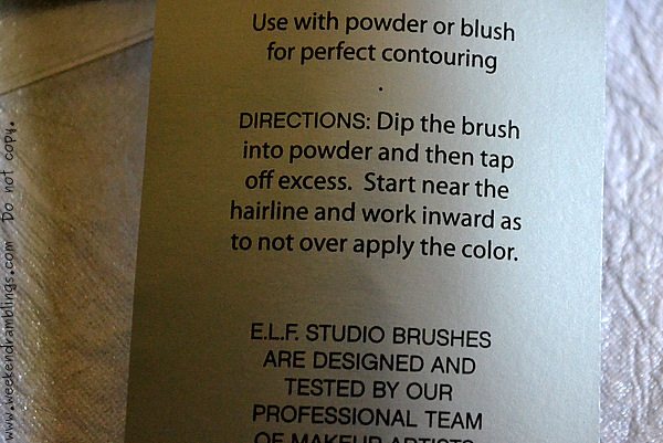 ELF Studio Makeup Brushes Powder