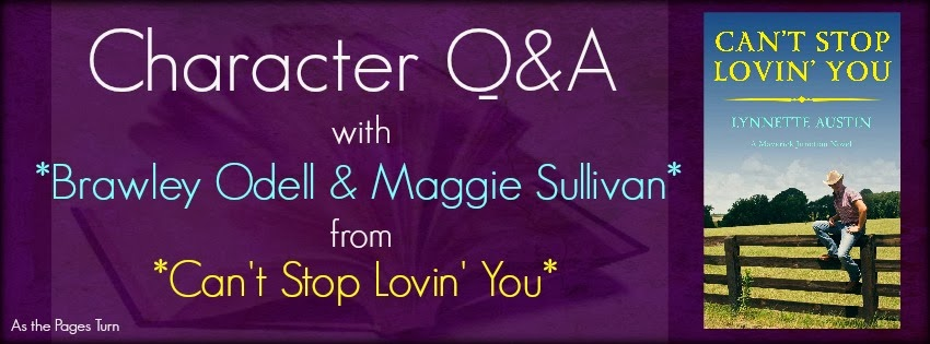 Character Q&A + Giveaway – Can't Stop Lovin' You by Lynnette Austin