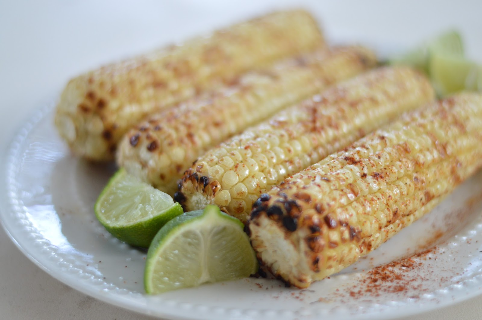 Grilled Corn with Lime and Chili Powder