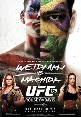 Download UFC 175: Weidman vs. Machida HDTV MP4 + RMVB Baixar Filme 2014