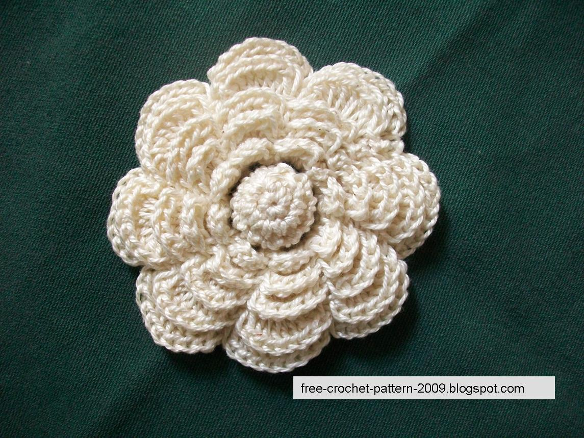 Crochet Patterns Roses Free : Girlies Crochet: Rose Flower Crochet