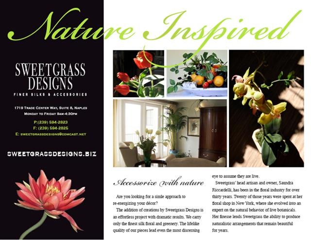 Brochure Samples Pics: Brochure Of Flowers
