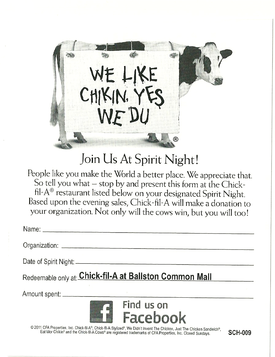 Clarendon Nights: Reading Connection Fundraiser at Chick-Fil-A on ...