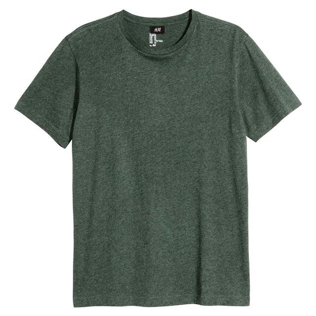 h&m t-shirt conscious basique kaki