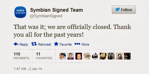 symbian closed