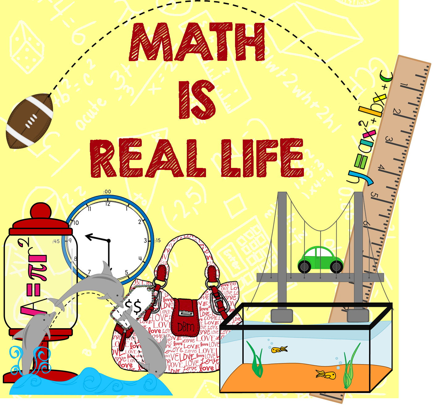 Monthly real world math blog link up hosted by