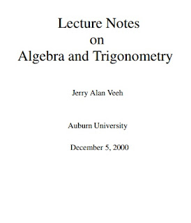 Lecture Notes on Algebra and Trigonometry
