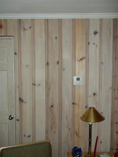Repurposed Style Lake House Knotty Pine Paneling Restoration