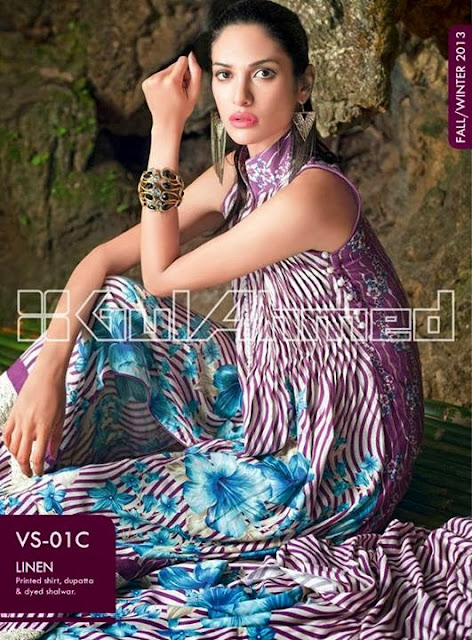 Gul Ahmed Linen collection 2013