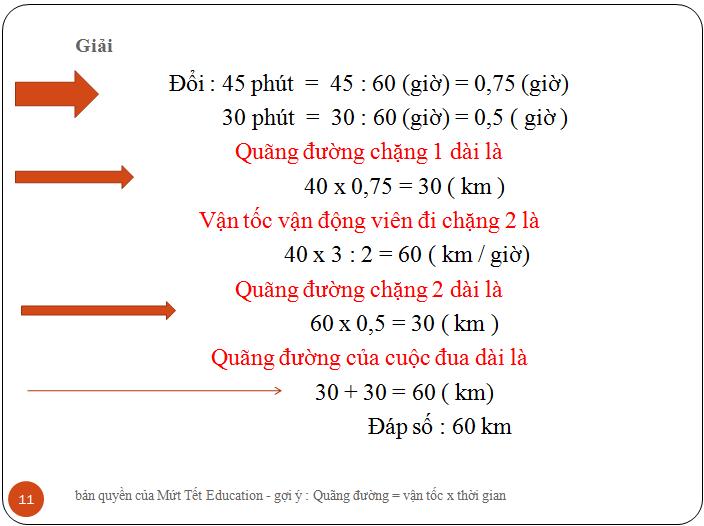 Bài tập tính quãng đường - Tiết 1 - Toán lớp 5 (11)