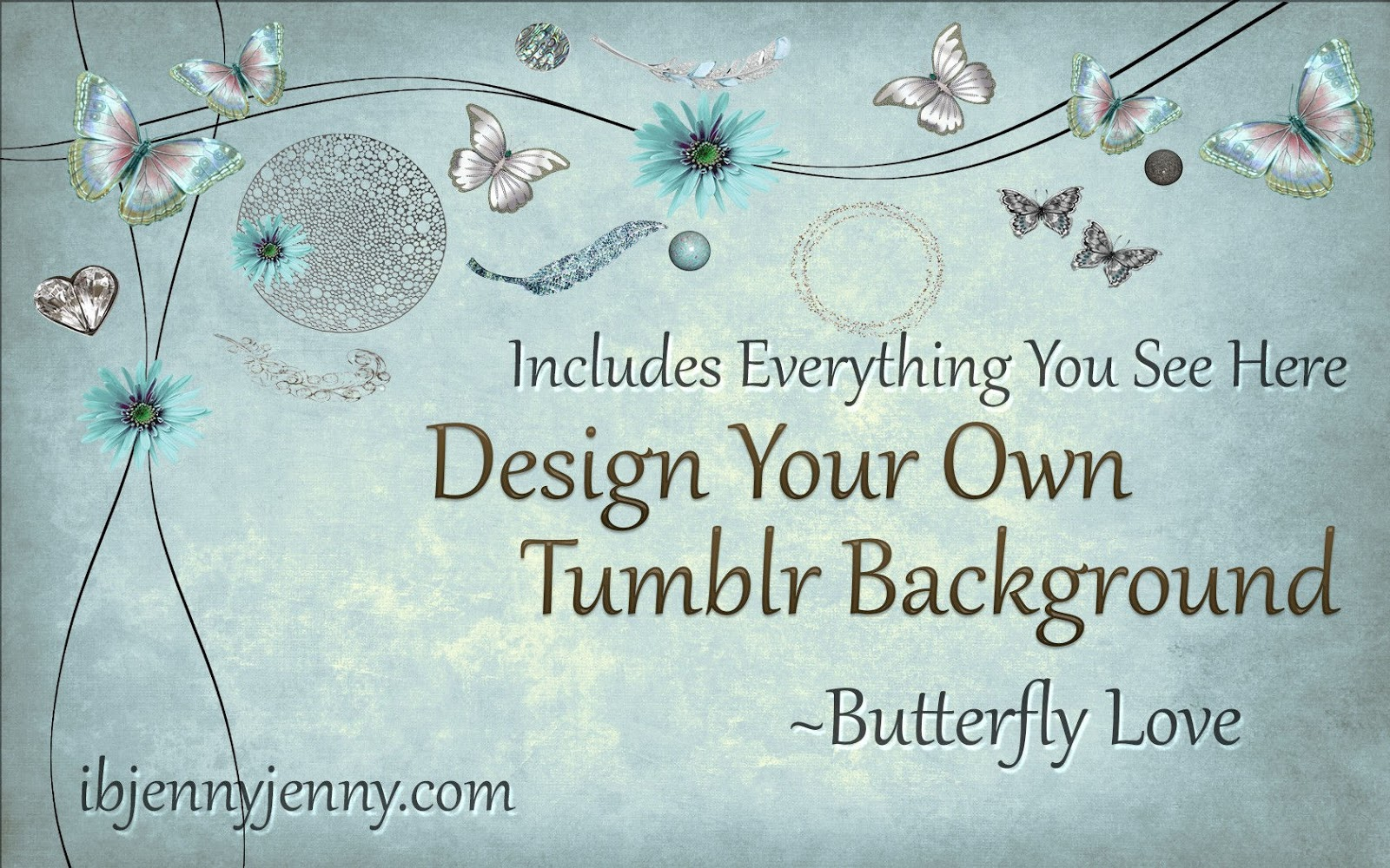 Design your own tumblr background butterfly love for Design your own wallpaper