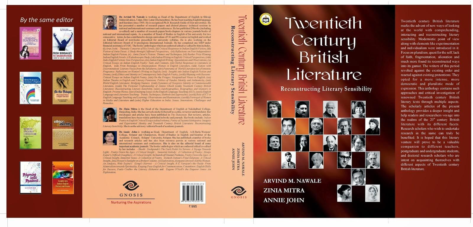 Twentieth Century British Literature: Reconstructing Literary Sensibility