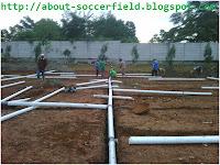 drainase lapangan sepak bola