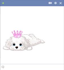 Pink Crown Puppy Emoticon