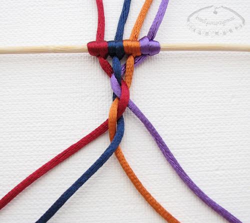 warkocz z czterech sznurków 9