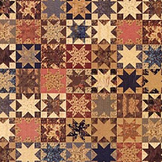 Civil War Quilts: Stars in a Time Warp 34: Bronze-style Prints : milky way quilt pattern - Adamdwight.com