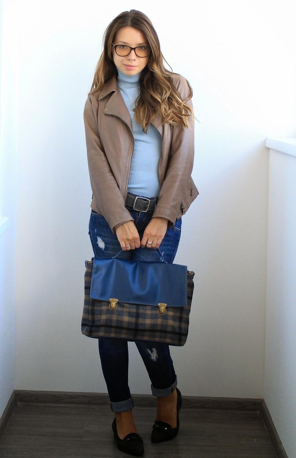 женский кожаный портфель