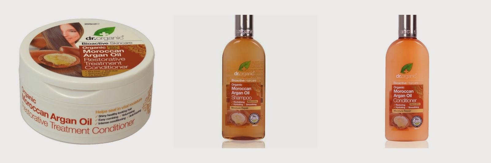 de reparación intensa Recientemente he comprado la gama de Aceite de Argán de Dr.Organic, porque están especialmente indicados para pelo seco,