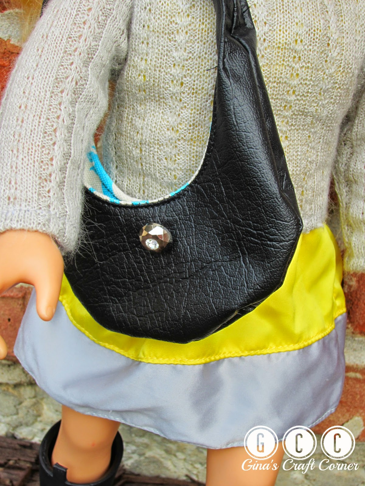 Vinyl Hobo Bag  by Gina's Craft Corner