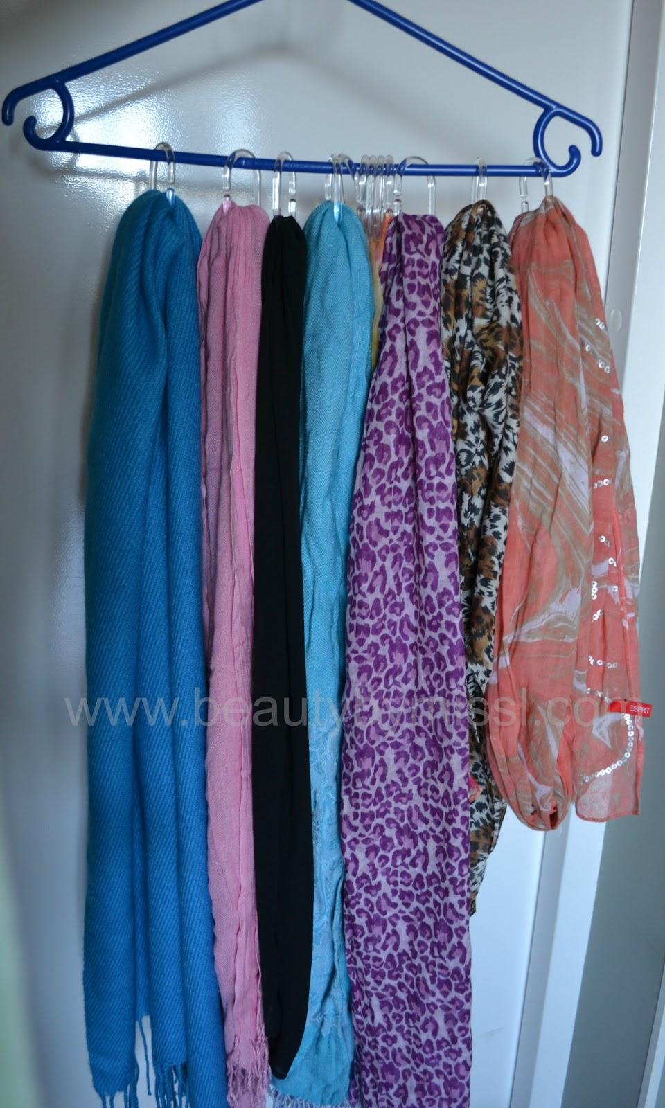 diy scarf hanger by miss l