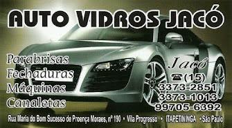 AUTO VIDROS JACÓ Para-brisas - Fechaduras - Máquinas - Canaletas