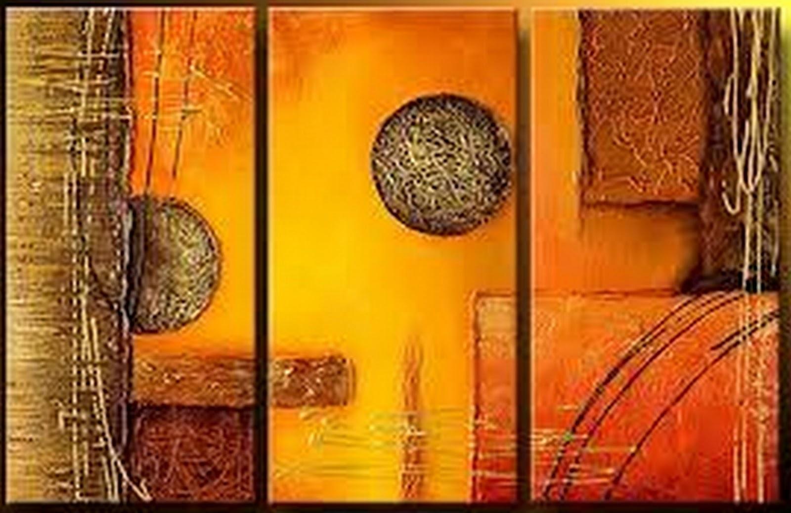 Pinturas cuadros lienzos cuadros abstractos modernos - Laminas decorativas para pared ...