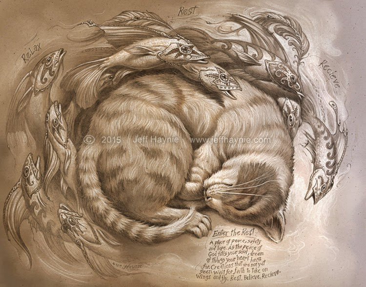 07-Enter-the-Rest-Jeff-Haynie-Cats in Drawings-Paintings-and-Jewelry-www-designstack-co