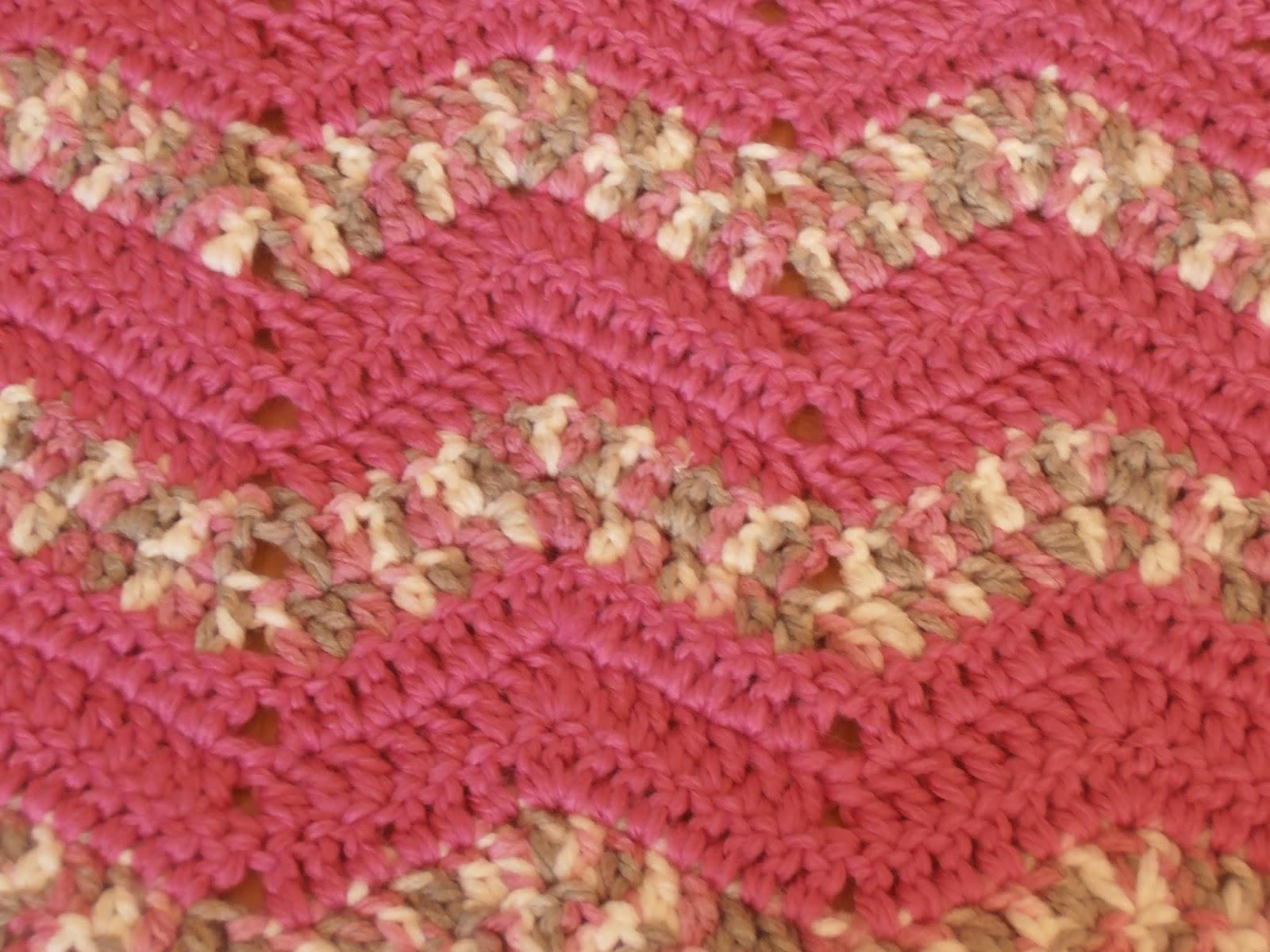 Crochet Patterns Using Variegated Yarn : Crafty Friends: Variegated Crochet Ripple Blanket