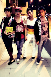 We have Eman , Me , Akiey and Nabil. We are like the next Malaysia's Next Top Model.